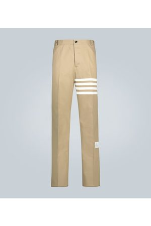 Thom Browne 4-Bar cotton twill pants