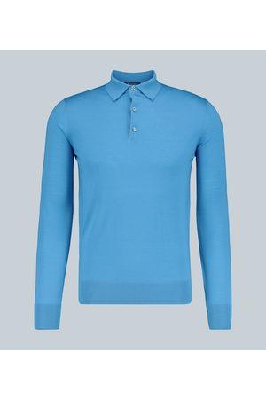 Loro Piana M1 long-sleeved wool polo shirt