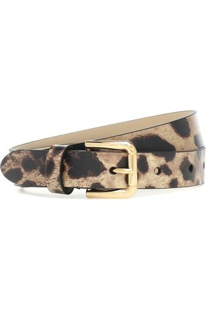 Dolce & Gabbana Leopard-print leather belt