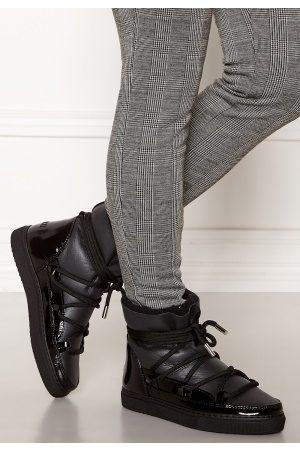 INUIKII Naiset Tennarit - Sneaker Gloss Black 37