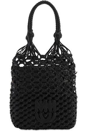 Miu Miu Leather Net Tote Bag