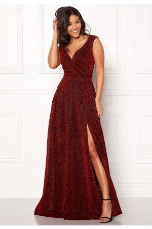 Goddiva Wrap Front Sleeve Dress Red M (UK12)