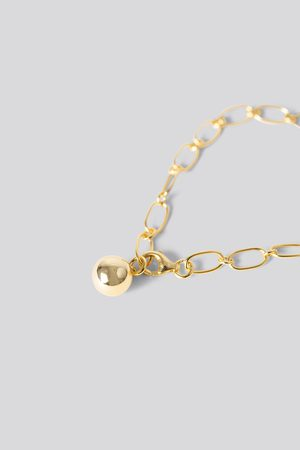 NA-KD Gold Plated Thin Chain Bracelet - Gold