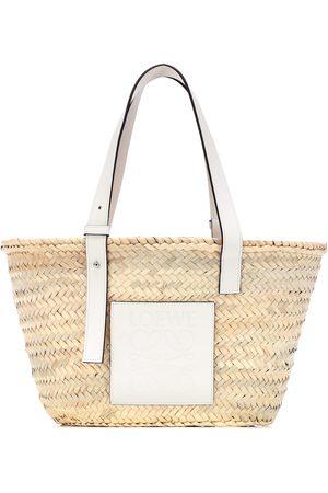 Loewe Naiset Ostoskassit - Medium leather-trimmed basket tote