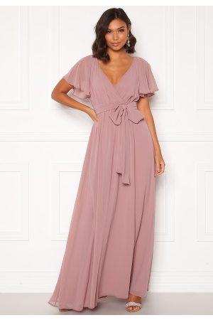 Goddiva Naiset Maksimekot - Flutter Chiffon Dress Lavender S (UK10)