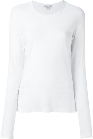 James Perse Naiset T-paidat - Round neck longsleeved T-shirt