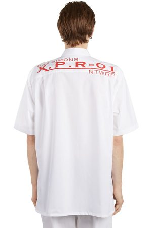 RAF SIMONS Oversize Printed Cotton Poplin Shirt