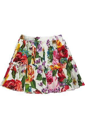 Dolce & Gabbana Tytöt Printtihameet - Flower Print Cotton Poplin Skirt
