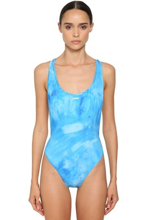 OFF-WHITE Tie Dyed Cross Lycra One Piece Swimsuit