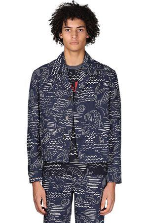 Kenzo Marina Allover Print Cotton Blend Jacket