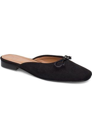 Flattered Malva Black Suede Sandaletit Pistokkaat