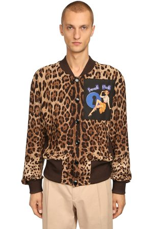 Dolce & Gabbana Miehet Bomber - Leopard Print Bomber Jacket W/ Patch