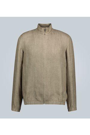 Loro Piana Linen bomber jacket
