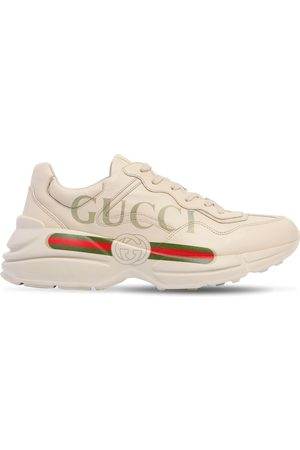 Gucci Rhyton Print Leather Sneakers