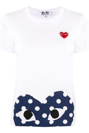 Comme des Garçons Naiset T-paidat - Heart-print crew neck T-shirt