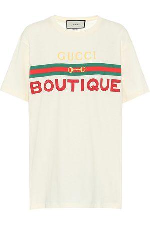 Gucci Naiset T-paidat - Printed cotton T-shirt