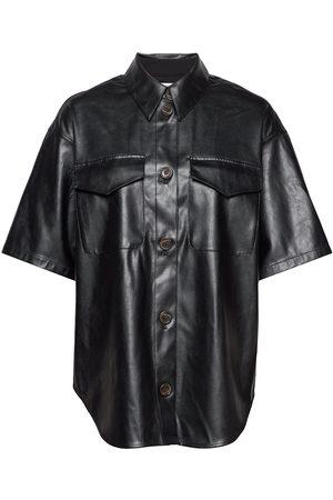 Designers Remix Naiset T-paidat - Short-Sleeved Leather Free Leather Shirt Lyhythihainen Paita
