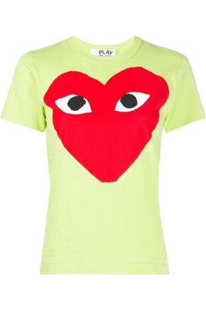 Comme Des Garçons Play Naiset T-paidat - Heart print round neck T-shirt