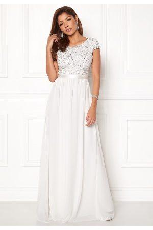 Chiara Forthi Viviere Sparkling Gown White 44