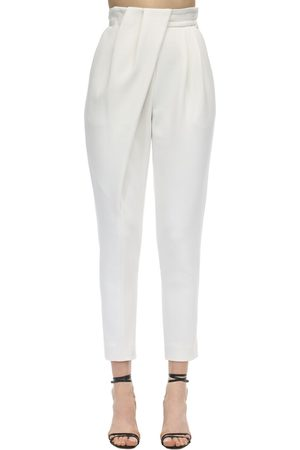 Proenza Schouler Draped Stretch Wool Suit Pants