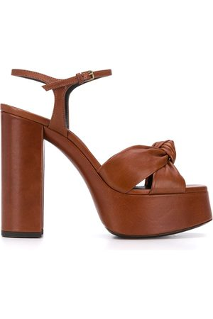 Saint Laurent Bianca 110mm platform sandals