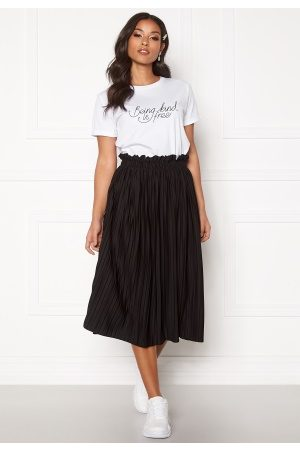 BUBBLEROOM Anna midi pleated skirt Black XS