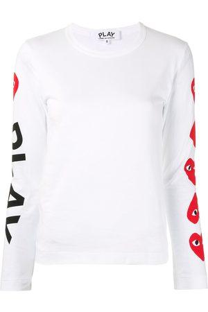 Comme des Garçons Naiset T-paidat - Logo-print crew neck top