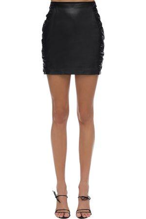 Zeynep Arcay Leather Mini Skirt