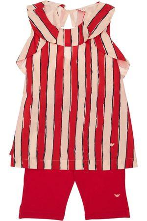 Emporio Armani Tytöt Leggingsit - Cotton Poplin T-shirt & Leggings