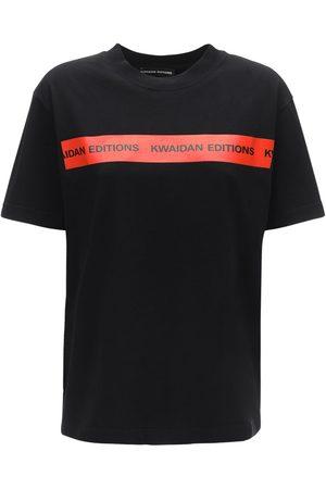 Kwaidan Editions Naiset T-paidat - Logo Tape Cotton Jersey T-shirt