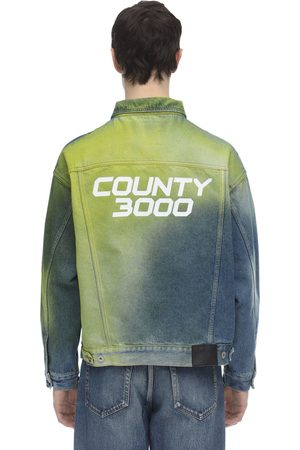 MARCELO BURLON County 3000 Spray Over Denim Jacket