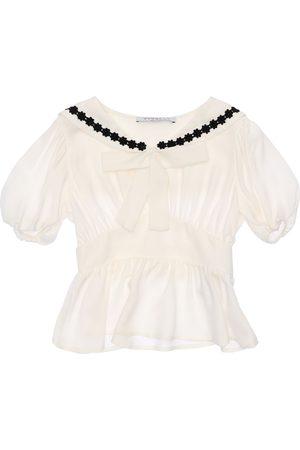 VIVETTA Viscose Crepe Shirt W/ Bow
