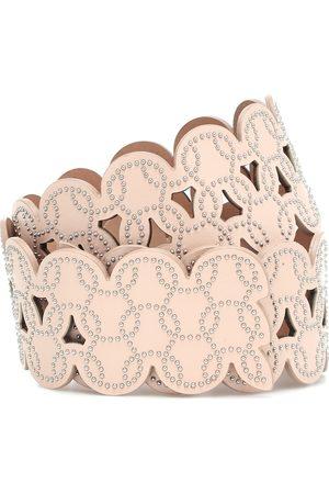 Alaïa Naiset Vyöt - Embellished laser-cut leather belt