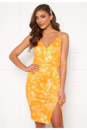 BUBBLEROOM Mirelle twist dress White / Yellow L