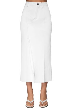 Marni Cotton Drill Midi Skirt