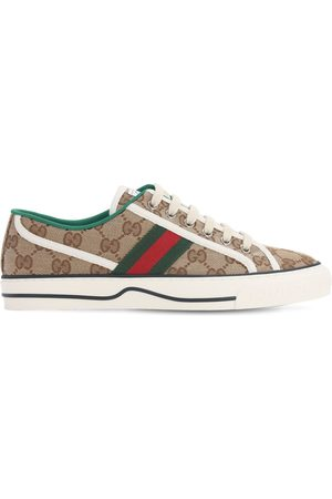 GUCCI Gg Canvas Sneakers W/web Detail