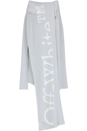 OFF-WHITE Crepe Midi Skirt W/ Front Panel