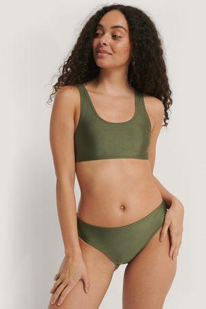 NA-KD Naiset Bikinit - Sporty Bikini Briefs - Green