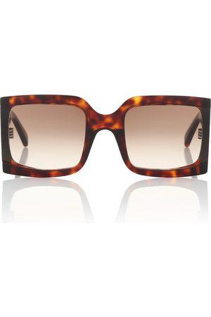 Celine Eyewear Naiset Aurinkolasit - Square acetate sunglasses