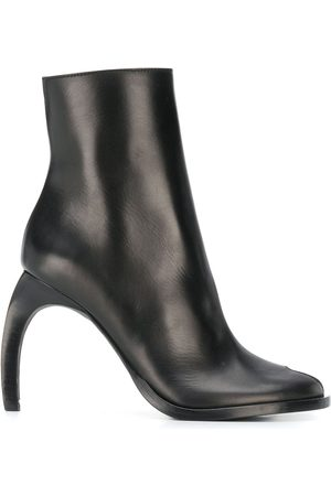 ANN DEMEULEMEESTER Round-toe zipped ankle boots