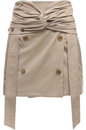 Rokh Naiset Minihameet - Cotton Gabardine Mini Skirt