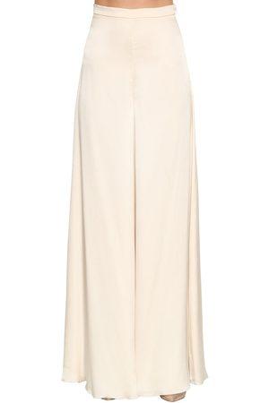 TEMPERLEY LONDON Castalia Wide Leg Silk Satin Pants