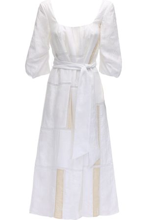 GABRIELA HEARST Lvr Sustainable Embroidered Linen Dress