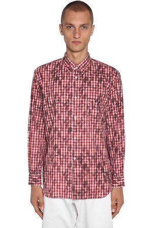 Comme des Garçons Squared Print Cotton Poplin Shirt