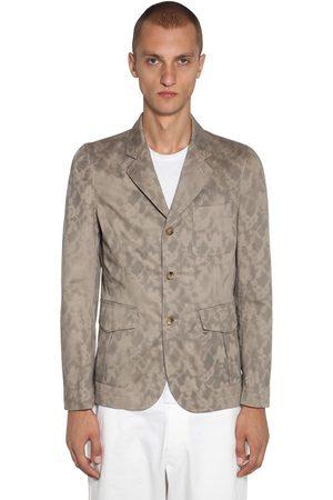 Comme des Garçons Stencil Print Cotton Twill Jacket