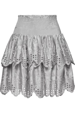Designers Remix Naiset Minihameet - Tiered Broderie Anglaise Skirt Lyhyt Hame Hopea