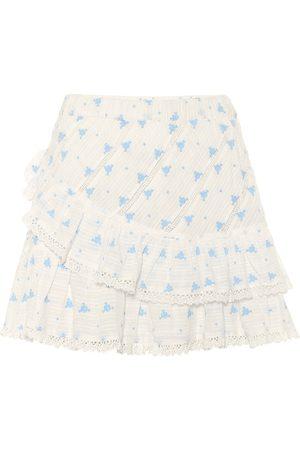 LOVESHACKFANCY Exclusive to Mytheresa – Emma floral cotton miniskirt