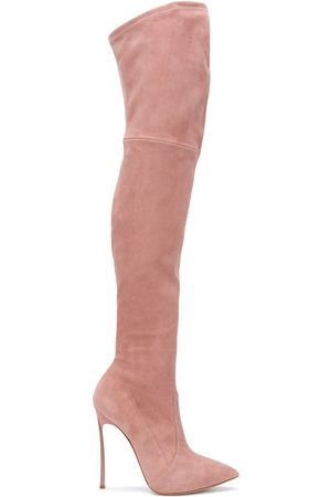 Casadei Naiset Ylipolvensaappaat - Pointed thigh-high boots