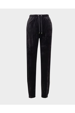 Juicy Couture Naiset Housut - Diamante Velour Joggers Women's - Only at JD - Womens