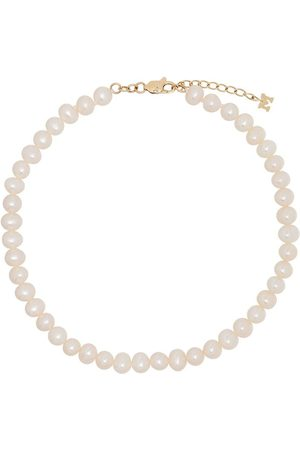Mateo Naiset Bodyt - 9kt yellow gold pearl anklet